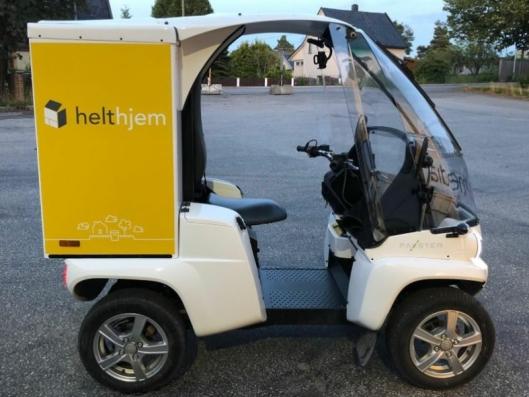 Distributøren Helthjem tester Paxster elektriske firehjulinger, som er produsert i Sarpsborg, til sin lokaldistribusjon.