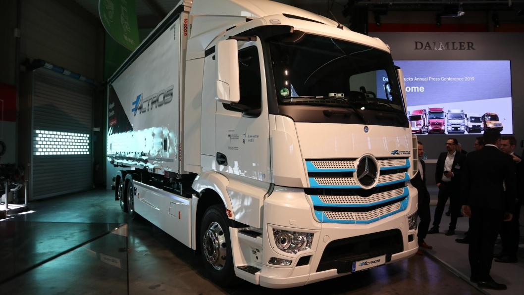 Mercedes-Benz eActros til Logistik Schmitt. Overlevert februar 2019.