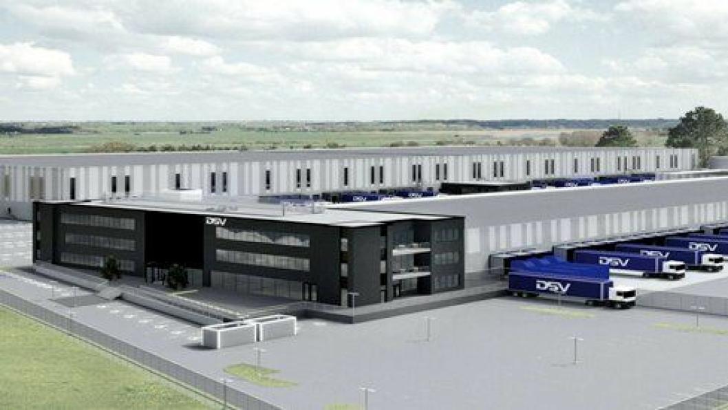 Det samlede arealet blir 55.700 kvadratmeter på DSVs nye bygg i Vestby.