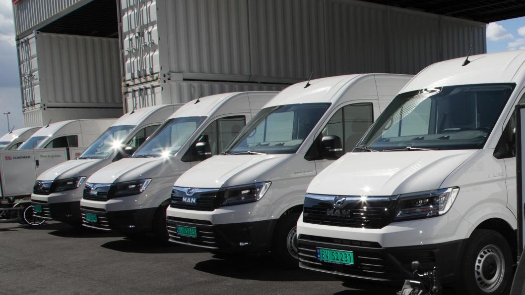 Schenker har investert i åtte elektriske MAN eTGE varebiler for utslippsfri varedistribusjon i hovedstaden. Når de skal utvide bilparken kan de nå få støtte fra Enova.