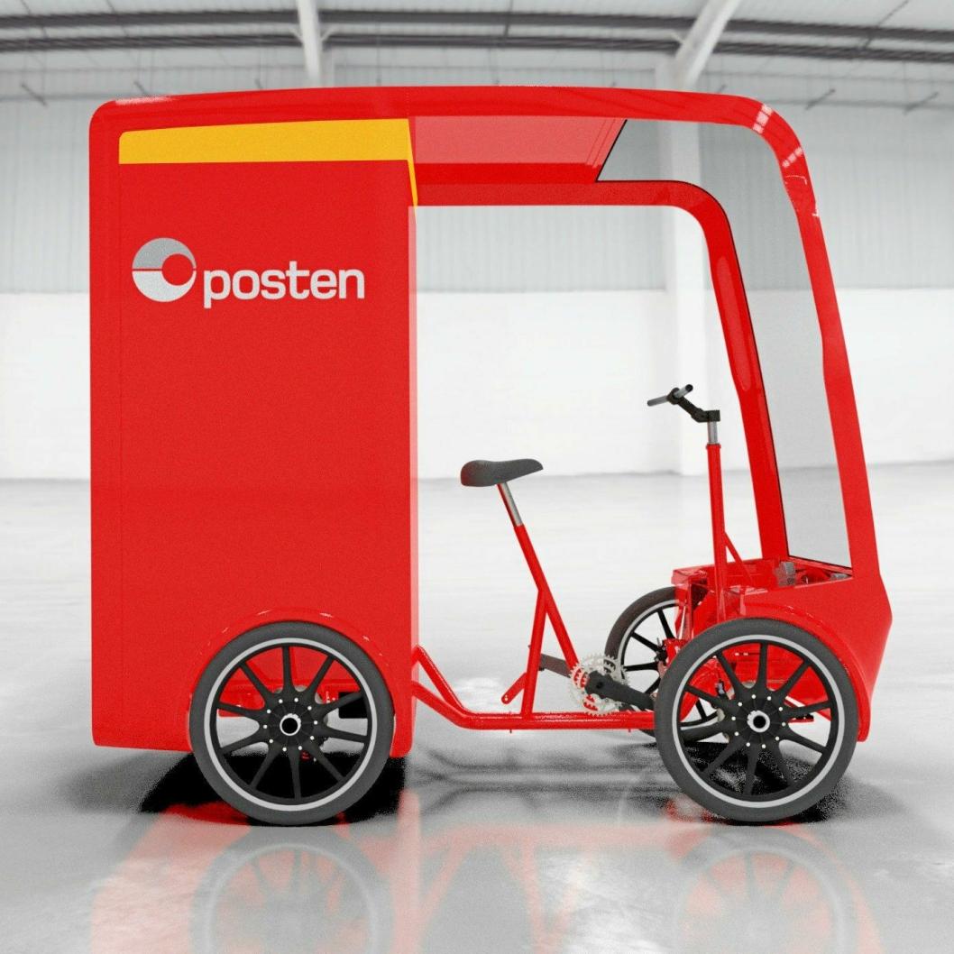 el-sykkel fra EAV, og Posten er det første selskapet som tar i bruk den største modellen med lastekapasitet på opp mot 2,5 kubikkmeter.