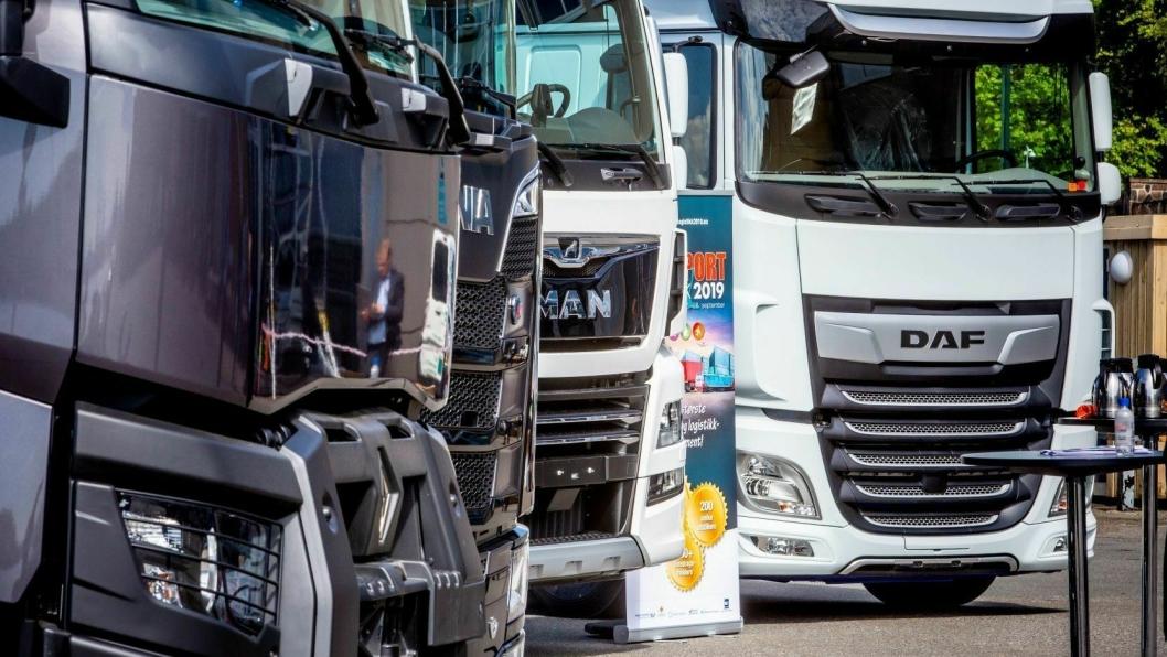 Alle de store lastebilprodusentene er på plass med utstillinger.