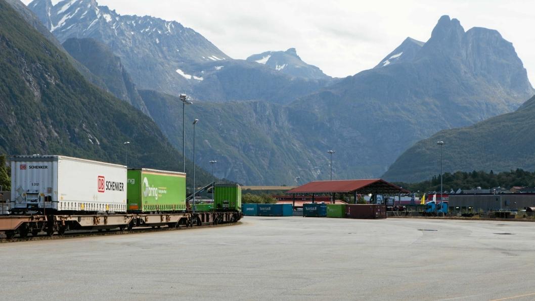 Det har vært stille på godsterminalen i Åndalsnes siden i fjor.