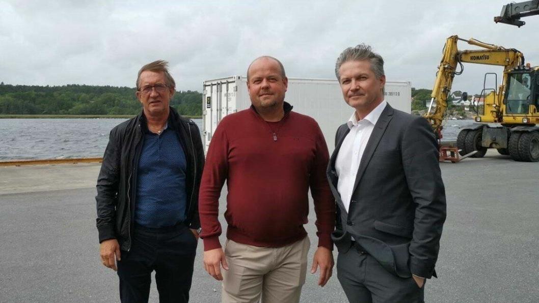 Dette trekløveret var nylig på «turne». Fra venstre: John Hansen, ekspeditør Stokmarknes og Sortland, Rune Saltnes, ekspeditør Brønnøysund og Per Anders Brattgjerd, Product Manager Nor Lines Daily.