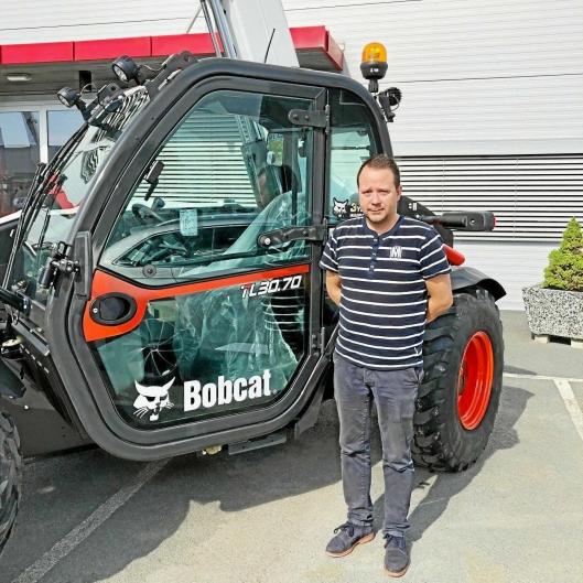 NYTT MERKE: Lasse Aalberg er produktspesialist på BobCat.