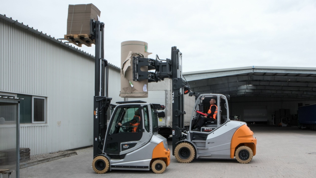 RX60 kommer i flere størrelser. Det er den minste serien opp til 3,5 tonn (foran) som nå er oppgradert. Storebrødrene får en oppgradering senere.