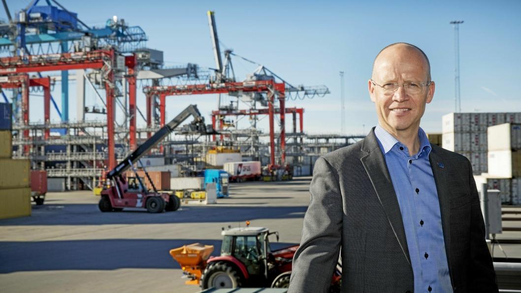 Havnedirektør Ingvar M. Mathisen gleder seg over fin vekst i Oslo Havn. – Vi ser nå virkelig effekten av en strukturell endring, sier han.