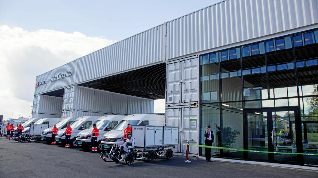 Oslo City Hub ble åpnet i mai og skal sørge for utslippsfrie leveranser i Oslo.