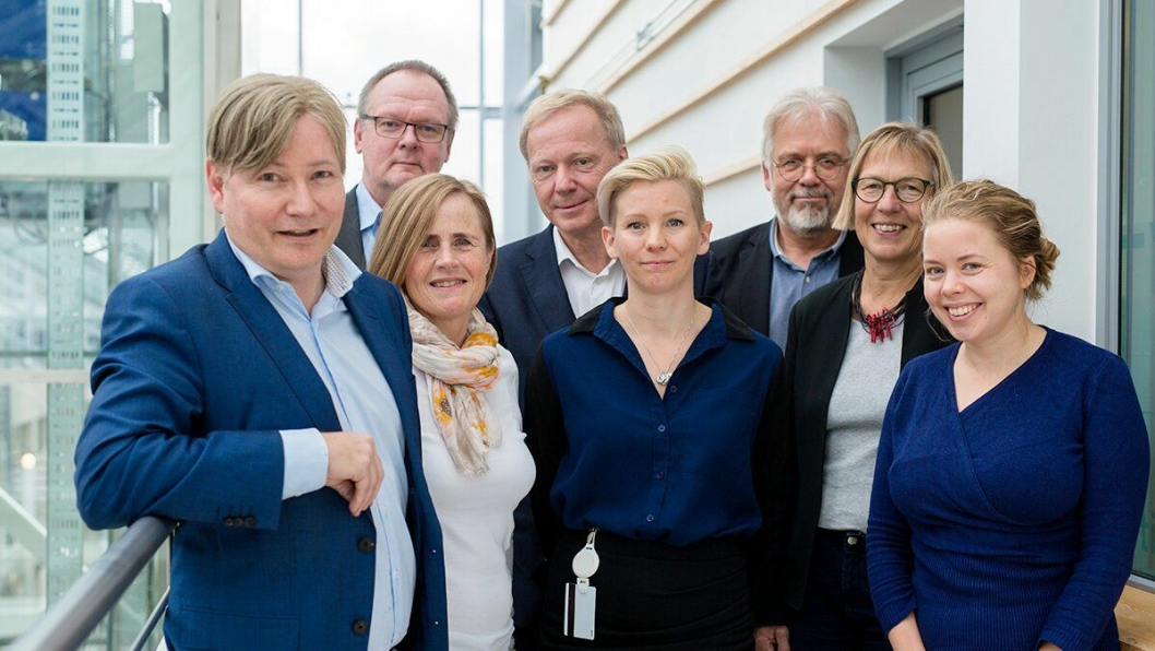 Nytt styre på plass i TØI: Foran: Ole A. Hagen, Grete Skundberg, Kjersti Visnes Øksenholt, Susanne Krawack, Sunniva Meyer. Bak: Tomas Svensson, Ola Strand, Svein Bråthen.