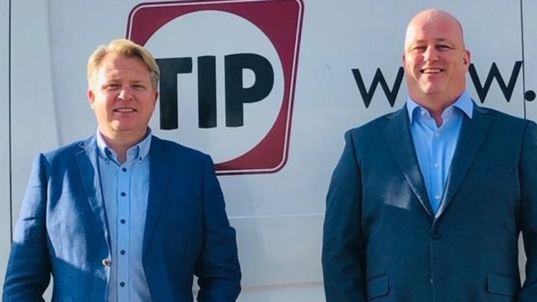 Kim Christensen (til venstre) og Birger Skare er begge nyansatte i ledelsen hos Tip Trailer Services i Norge.