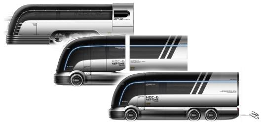 Det var de strømlinjeformede togene som ble benyttet mellom 1936 og 1959 som var inspirasjonen til designet.