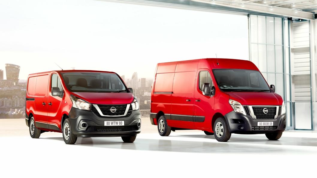 Nissan kommer med nye og betydelig oppgraderte versjoner av NV300 (t.v) og NV400.