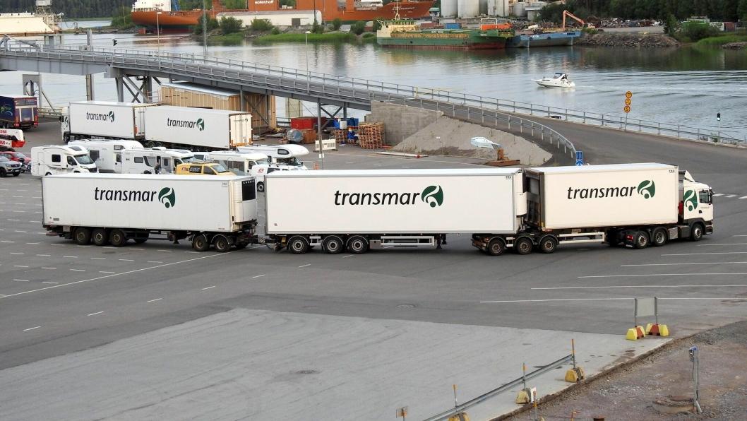 Transmar AB på Åland kjører med modulvogntog på opp til 36 meter. NB: Scania har ikke oppgitt hvor bildet er tatt.