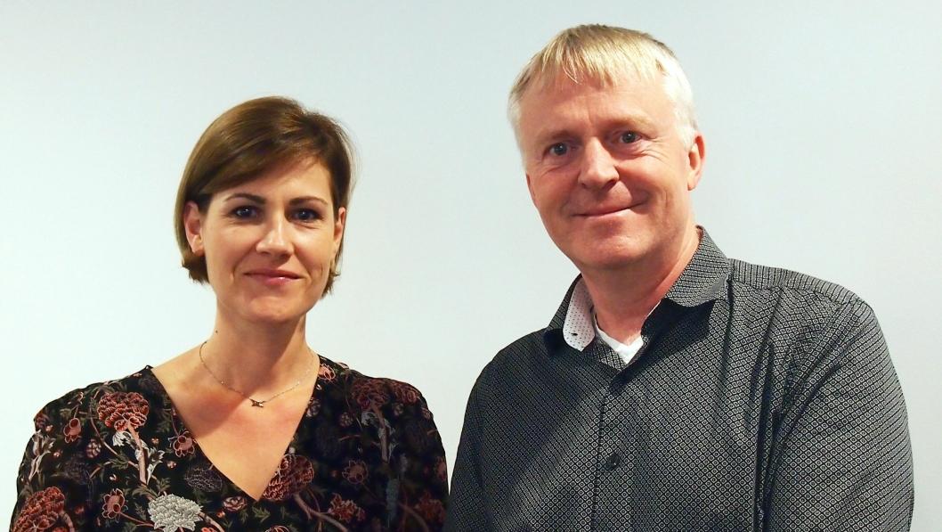 Isabelle Bion, adminstrerende direktør for Element Logic i Frankrike, og konsernsjef Dag-Adler Blakseth.
