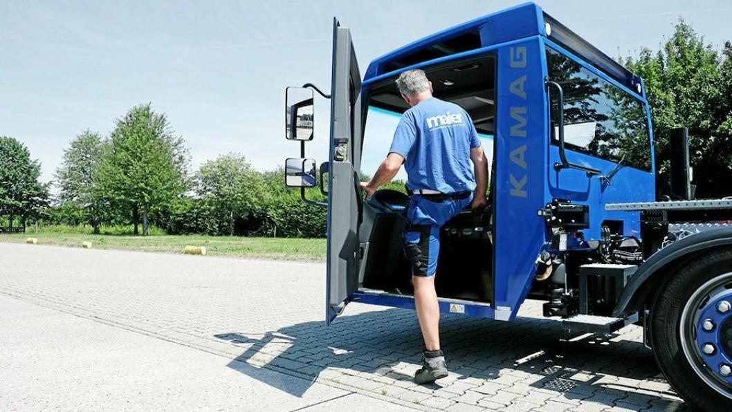 Lavt innsteg er en av de store fordelene med den nye maskinen.