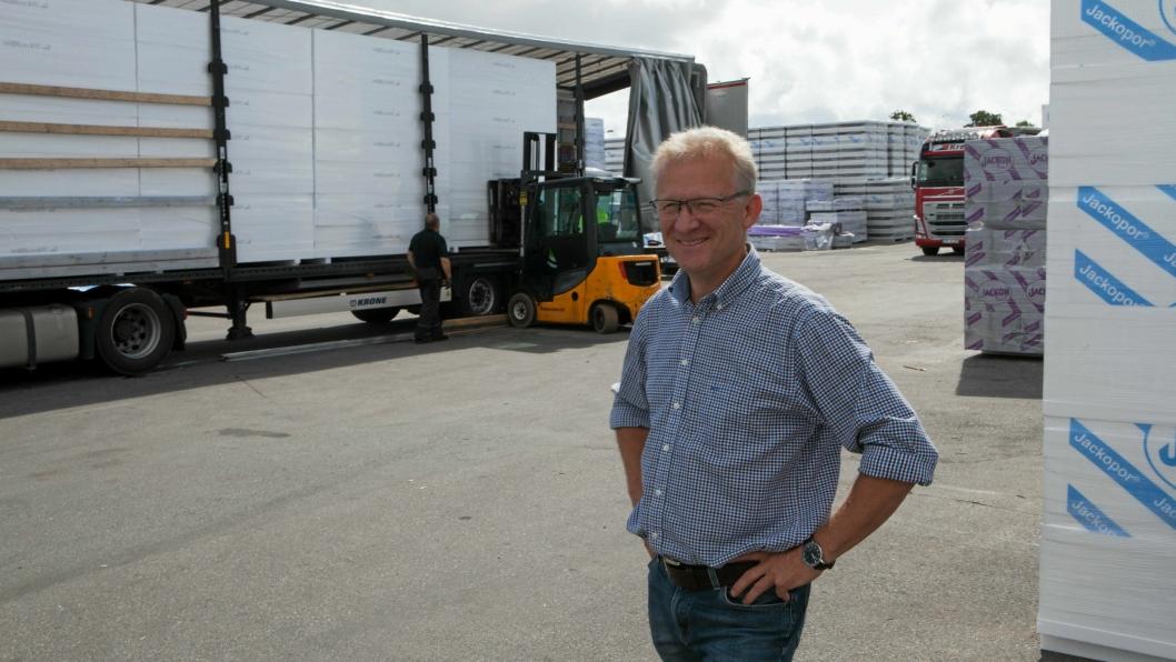 Logistikksjef Skandinavia i Jackon AS, Ole Iver Mæhlum får nå bedre kontroll på selskapets tollhåndtering.
