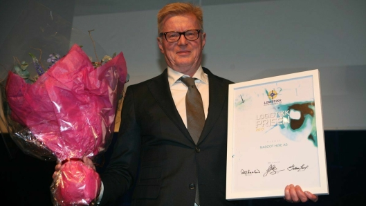 I 2017 mottok han Logistikkprisen for å ha fjernet sløseri i Mascot Høie. Foto: Per Dagfinn Wolden