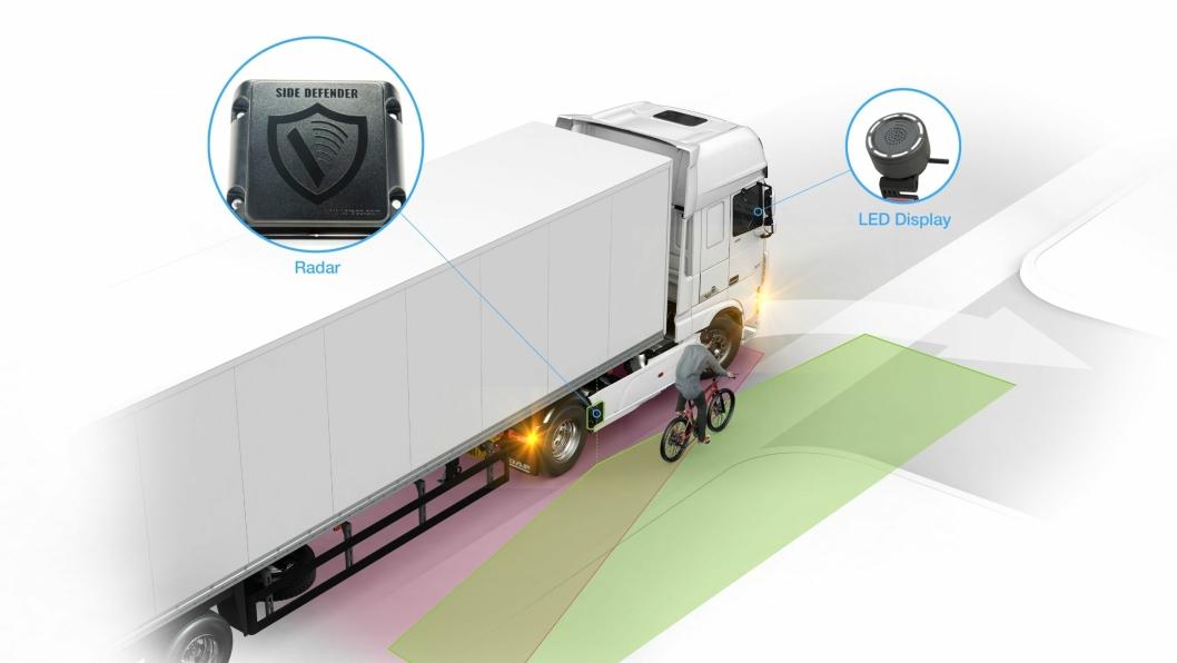DAF Trucks gjør systemet DAF City Turn Assist tilgjengelig for trekkvognene 4x2 og 6x2 for å forbedre sikkerheten ved varetransport i byer. Varslene fra DAF City Turn Assist vises på en strategisk plassert LED-skjerm, plassert på A-stolpen på passasjersiden, i nærheten av sidespeilet.