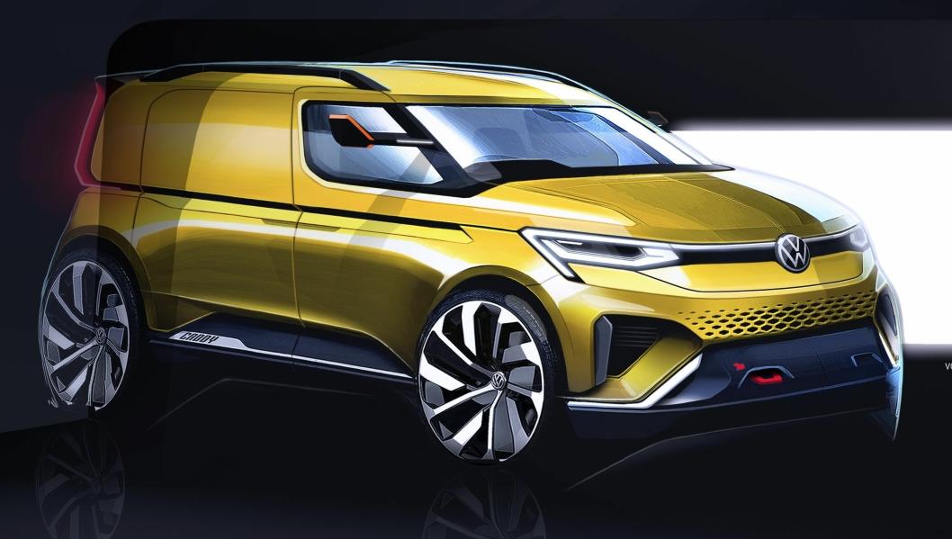 Skisse på ny Caddysom skal lanseres i begynnelsen av 2020.