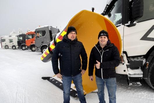Kompisene Benni og Christoph fra Sveits og Østerrike reiste til Trysil kun for å prøve lastebiler under Scania Winter.