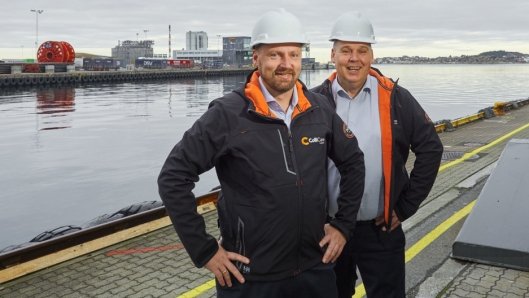 Kjetil Nerland (til venstre) og Georg S Moltu skal lede ColliCares satsing i Stavanger.