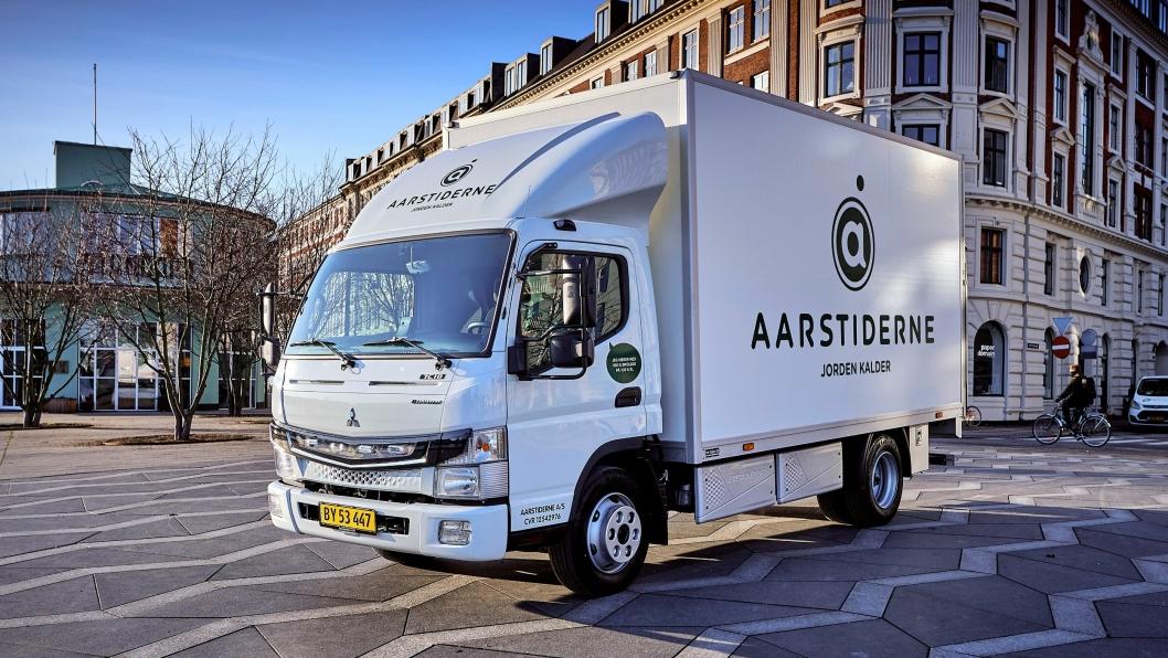 Den danske bedriften Aarstiderne har mottatt en ny Fuso eCanter.