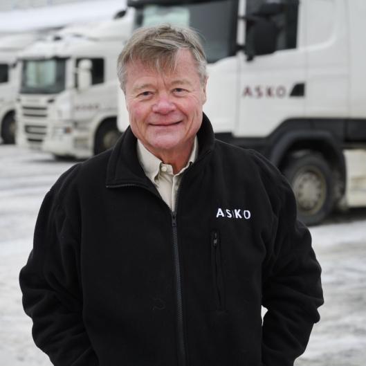 Styreleder i Asko, Torbjørn Johannson, skal fortelle om grossistens planer for grønn og effektiv transport.
