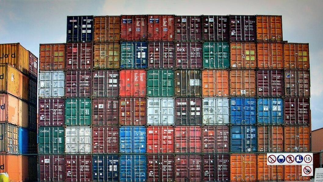 45 fots containere konkurrerer direkte med trailere fra Europa, men det er et mye større potensial for nærskipsfart. Arkivfoto.