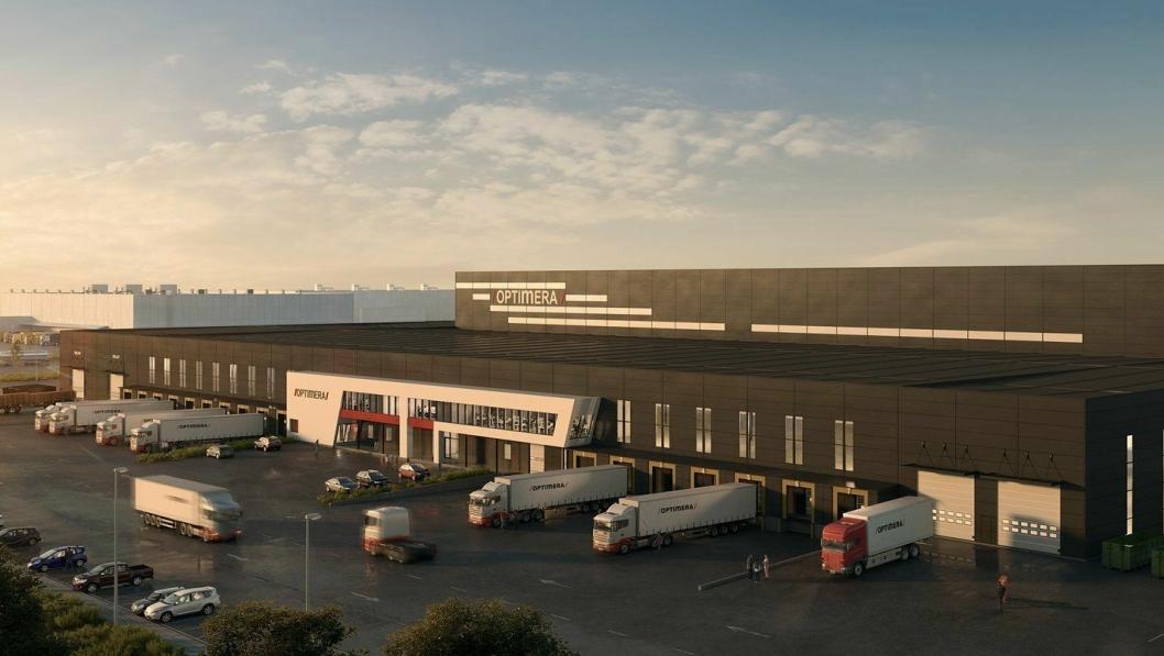 Det nye Optimera-lageret i Vestby på 23.000 kvadratmeter er eksempel på lagerbehovet i logistikkmarkedet.