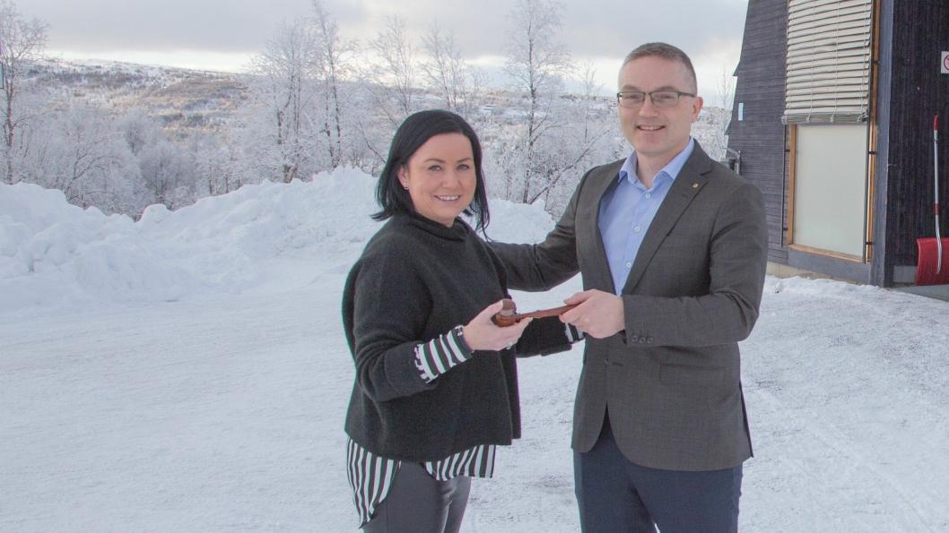 NY MED KLUBBA: Trine Lossius Brendryen tar over ledervervet i Logistikkforeningen avd. Trøndelag fra Lars Inge Fenes.