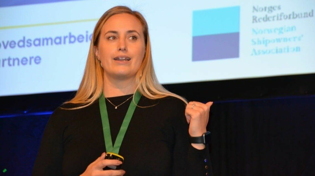 Den nye adm. direktøren i NCL, Bente Hetland, satte kursen for containerskiprederiet da hun på Haugesundkonferansen 10.-11. februar. (Foto: Maritimt Forum)