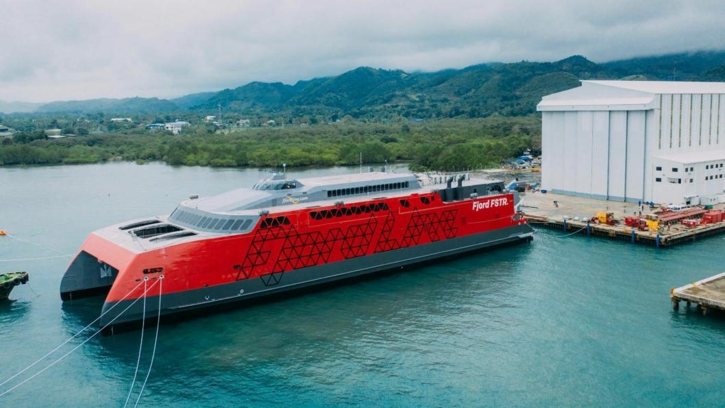 Fjord FSTR ble nylig sjøsatt ved verftet på Filippinene.