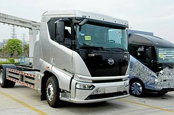 Kinesiske el-lastebiler til Norge