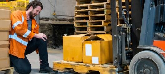 Kraftig økning i lagerulykker