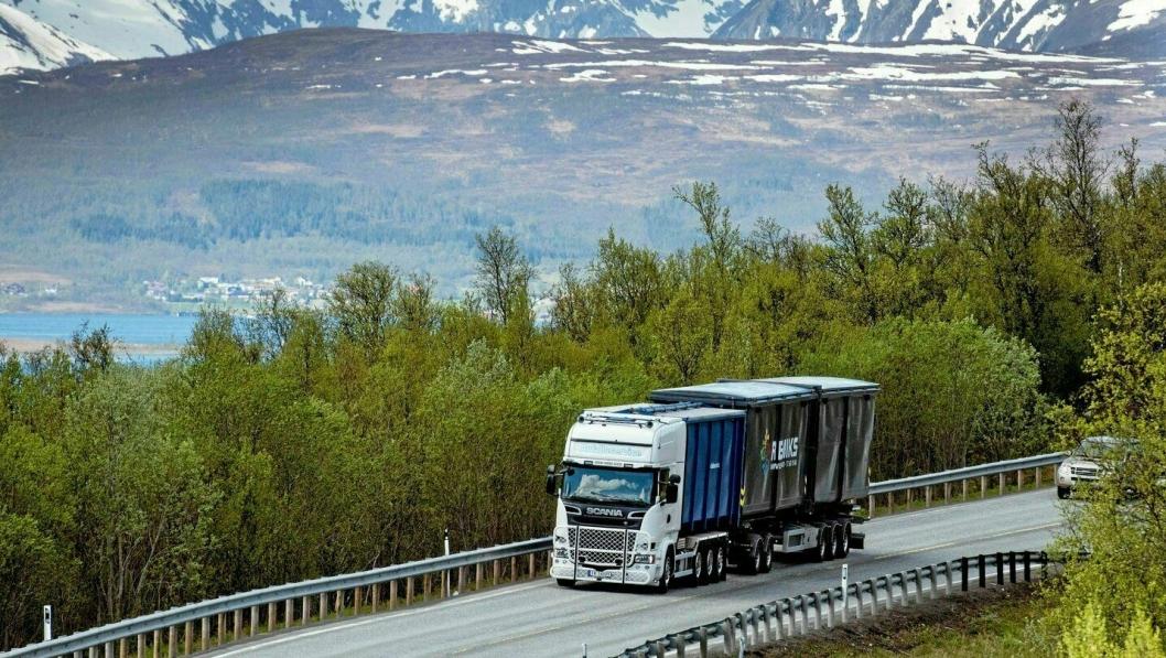 Godstrafikken hindres ikke av korona-restriksjonene.