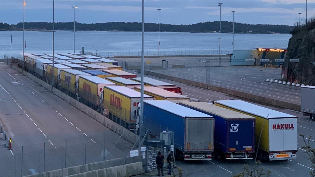 Kristiansand havn under pandemien. Foto: Kristiansand Havn.