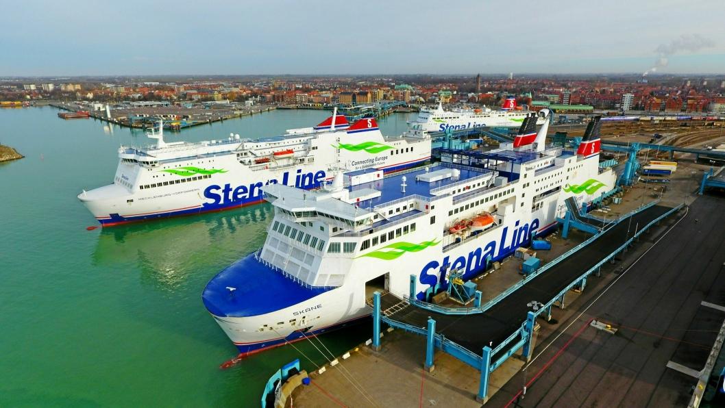 Stena Lines ferger mellom Trelleborg og Rostock har tre til fire daglige avganger.