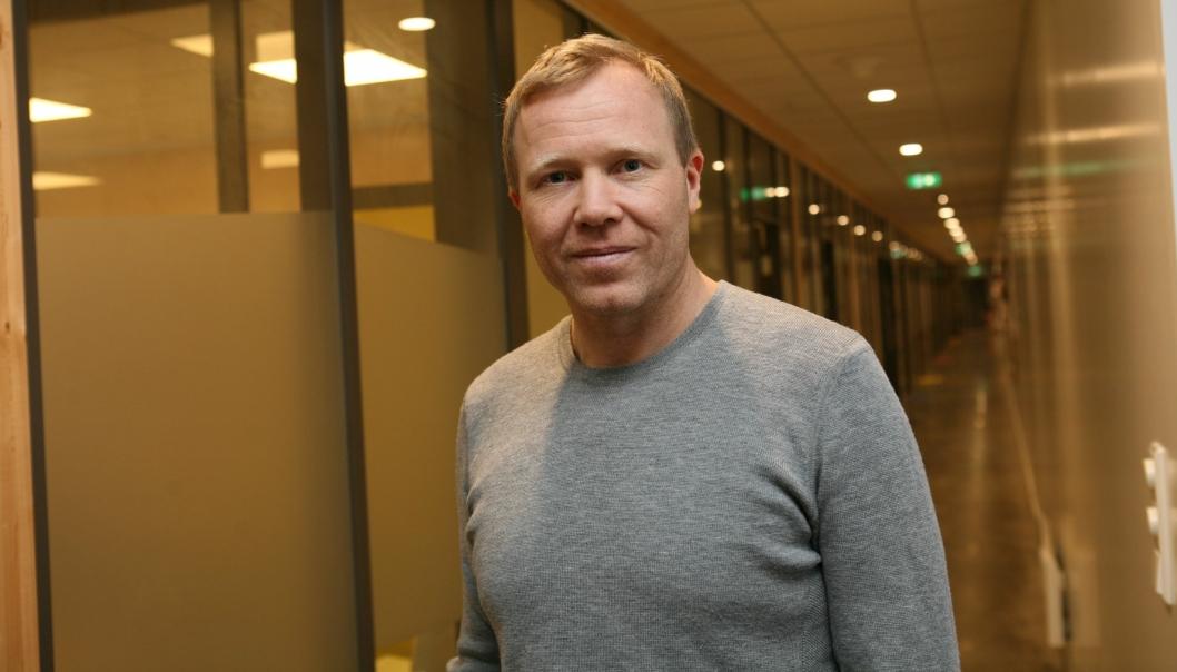 Sport Outlet-gründer Tor André Skeie opplever tomme korridorer i disse dager. Men optimismen er større enn noen gang. Foto: Per Dagfinn Wolden