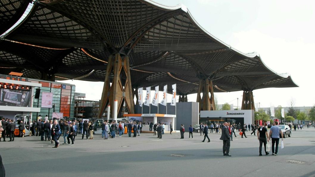 Hannover Messe samler vanligvis over 200.000 deltakere.