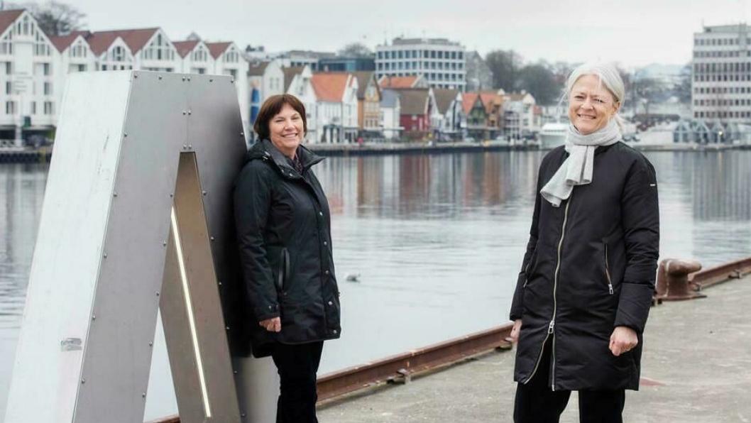 Konserndirektør Grethe Høiland i Lyse og havnedirektør Merete Eik i Stavangerregionen Havn vil jobbe sammen for en utslippsfri havn.