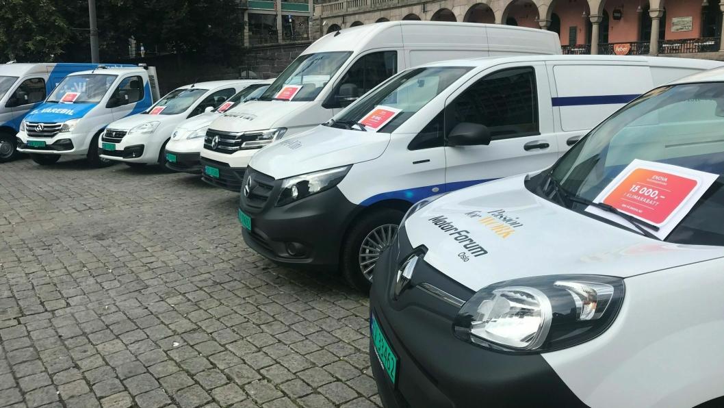 I 2019 delte Enova ut støtte til kjøp av ikke mindre enn 3300 elektriske varebiler.