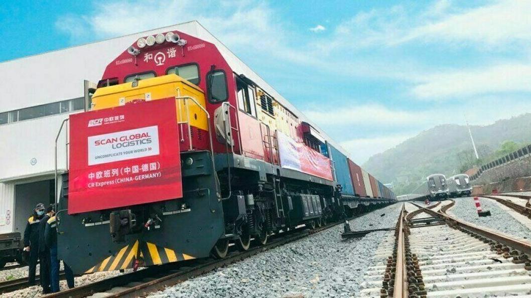 Scan Global Logistics første godstog fra Kina til Europa hadde avgang 28. mars og forventes i Europa 14.-15. april. (foto: Scan Global Logistics)