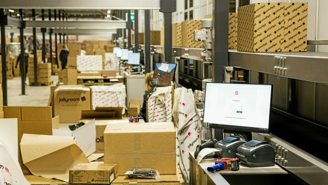 AutoStore-anlegget ved sentrallageret i Göteborg er hjertet i driften til Jollyroom.