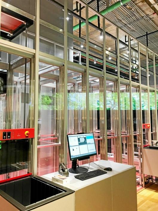 AutoStore har nylig lansert en Micro fulfillment-løsning, med AutoStore-anlegg inne i butikker. Her fra et kjøpesenter i Bangkok.