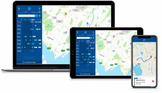 Konseptet er smart ruteoptimalisering i sanntid.