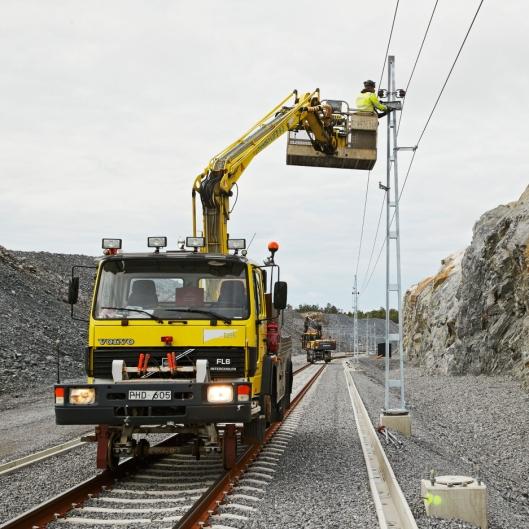 Jernbanesporet inn til havnen er nå ferdig bygget.