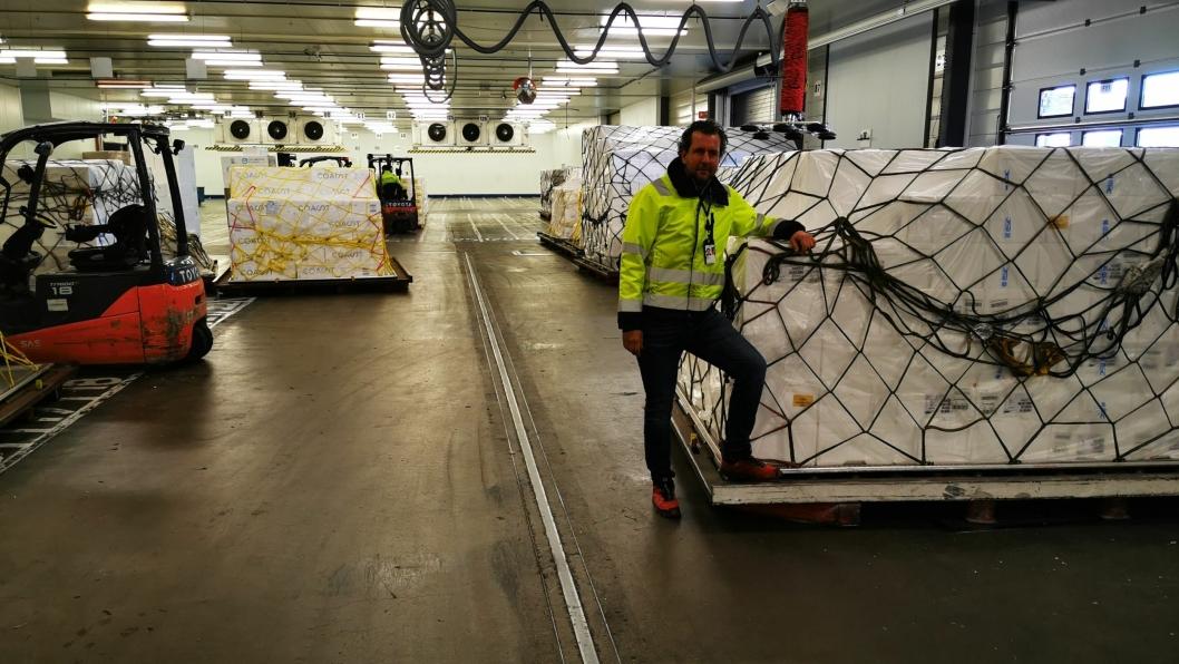 Adm. direktør Torgil Stålberg i Gardermoen Perishable Center (GPC) fremhever at korona-situasjonen og fravær av store deler av passasjerfly-trafikken har bidratt til bedre utnyttelse av kapasiteten på fraktefly.