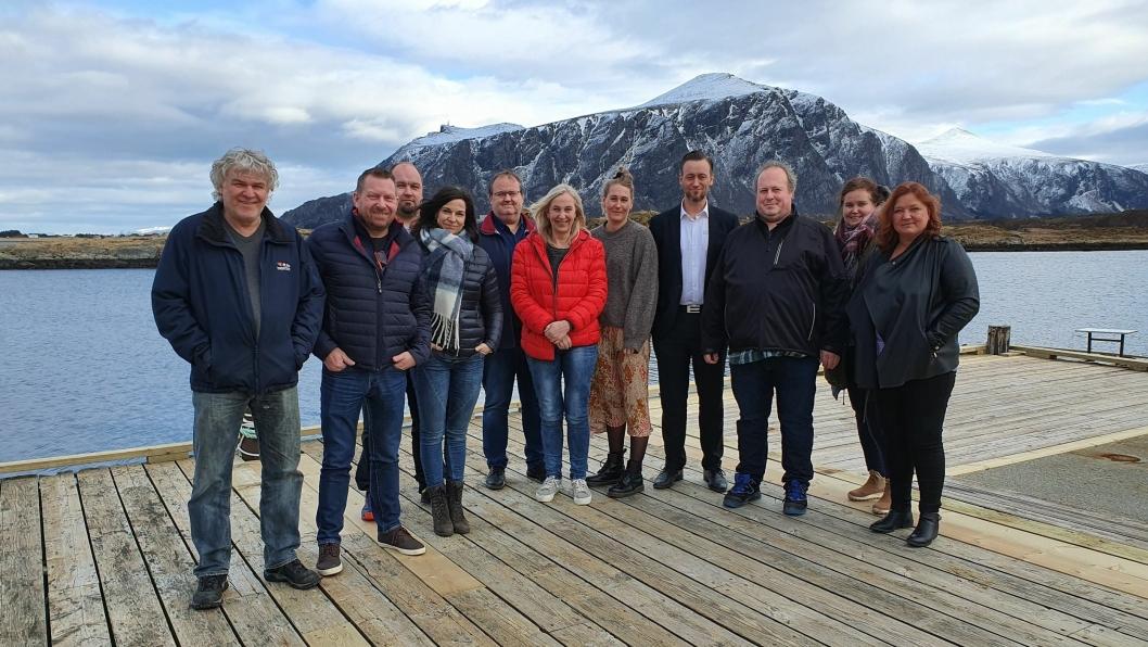. Zeekit presenterte løsningen for noen aktører på selskapets konferansesenter i Hustadvika. Morten Nore i Moss Transportforum helt til venstre.