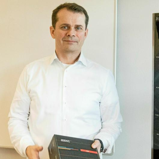 Per-Arne Ellefsen, daglig leder i Zeekit, gleder seg over positiv mottakelse fra transportbransjen.