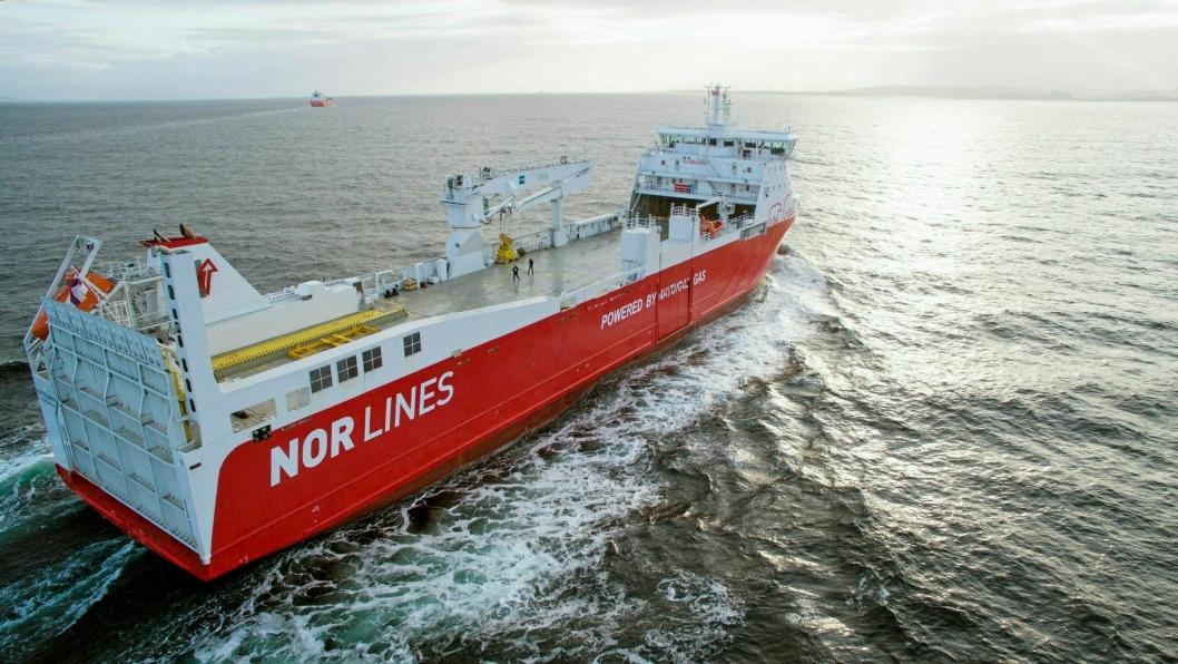 Nor Lines LNG-skip Kvitbjørn er et eksempel på miljøvennlig skip i nærskipsfart.